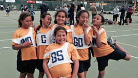 SPO Netball interschool comp Te Huruhi team SUP