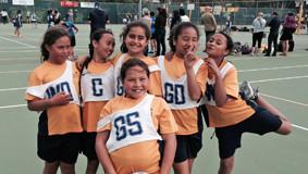SPO Netball interschool comp Te Huruhi team SUP