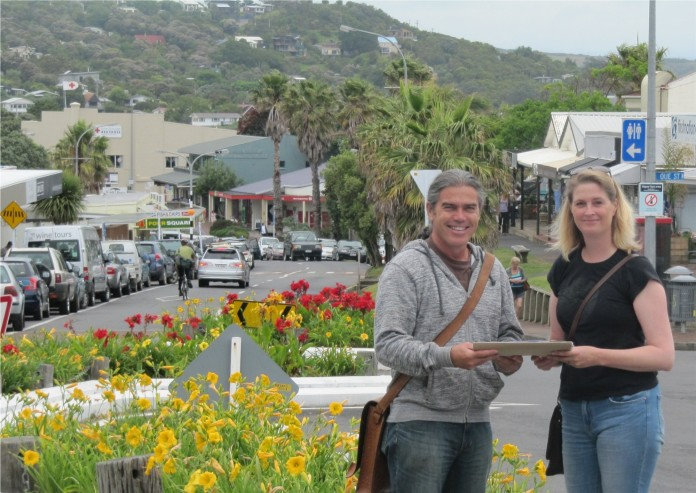 Sally Smith and Paora Toi Te Rangiuaia