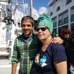 Skipper Fernando Roma and Susi Newborn