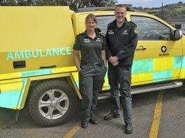 ST JOHN Rebecca Whistler and Territory Manager Simon Barnett