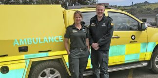ST JOHN Rebecca Whistler and Territory Manager Simon Barnett