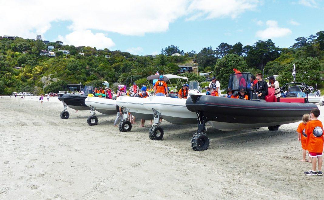 Sealegs lineup Onetangi Beach Race
