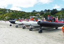 Sealegs lineup Onetangi Beach Race