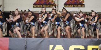 SB Polyfest 2019 Waiheke High Schools kapa haka group