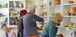 Potters at the Catherine Mitchell Art Centre