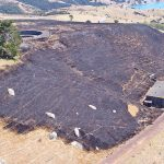 Stony batter fire aerial shot sup