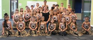 Whaea Elisha Scott with the bi-lingual Nga Purapura Akoranga. Photo Liza Hamilton