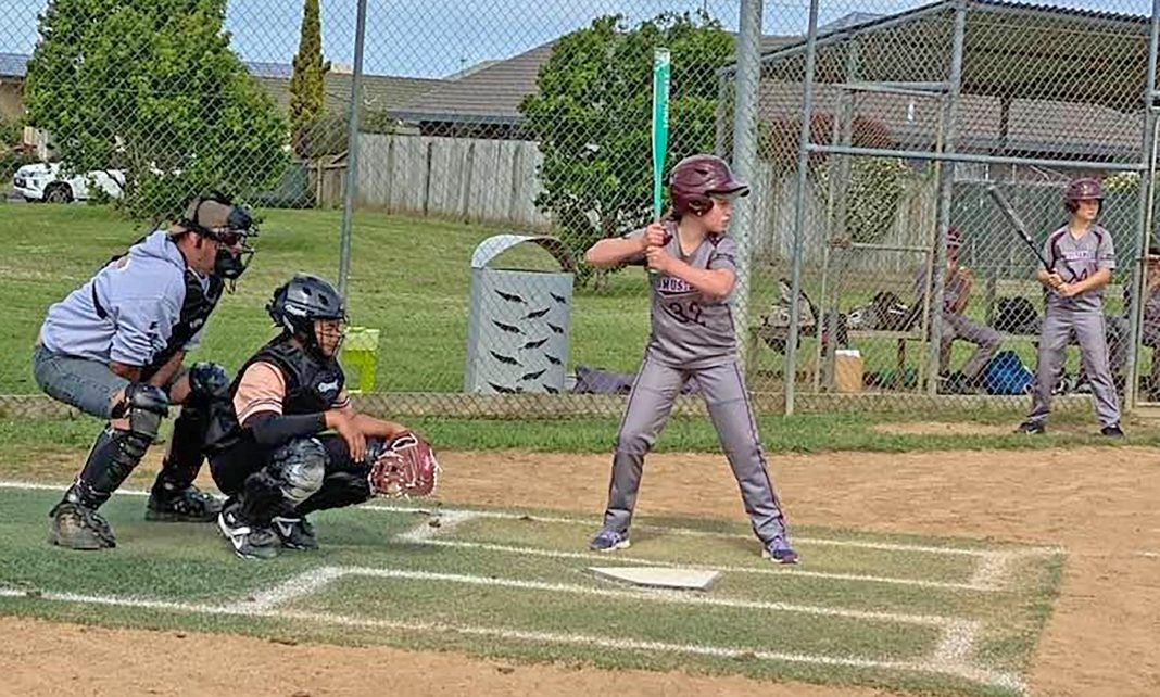 Under 13 Colts player Anouk Alley stepped up to score two runs for the Stallions in the higher age grade. Photo Janine Martin