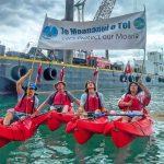 N KP marina starts kayak protest 09Mar21 Photo Bianca Ranson